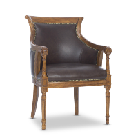 Swenson brown leather chair