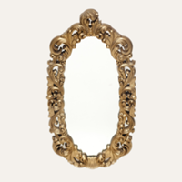 Alexandria gold mirror