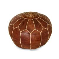 brown Moroccan pouf