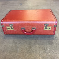 Reuben red suitcase