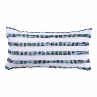 blue stripe lumbar pillow