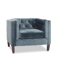 Kristof blue velvet chairs