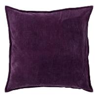 eggplant velvet pillow (a)