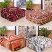 Moroccan kilim floor cushion