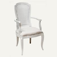 Grayson white armchair