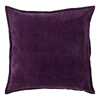 eggplant velvet pillow (b)