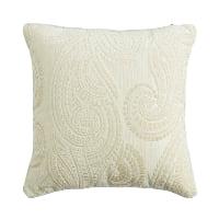 ivory velvet pillow (c)