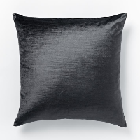 grey luster velvet pillow