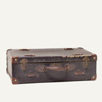 Spade leather suitcase
