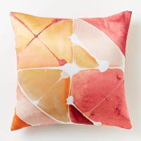 Poppy watercolor pillow
