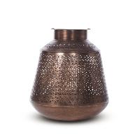 Keaton copper lantern, small