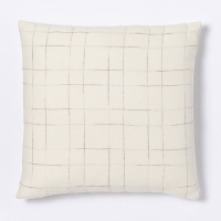 ivory plaid pillow