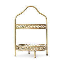 Leah gold tiered stand
