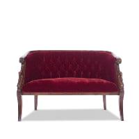 Scarlet red settee