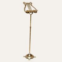 harp brass music stand