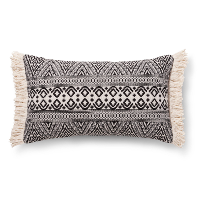 black tribal lumbar pillow (a)