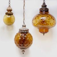 amber swag lights (set of 3)