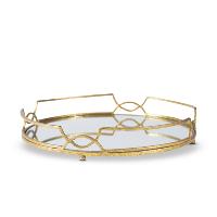 Aragon gold mirror tray