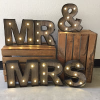Mr. & Mrs. marquee lights
