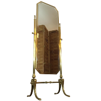 brass Cheval floor mirror