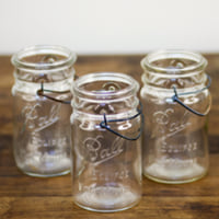 quart wide wire bail jars