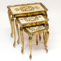 Hoyt gold nesting tables (set of 3)
