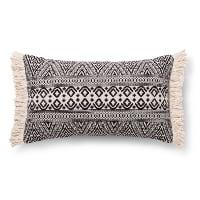 black tribal lumbar pillow (a)