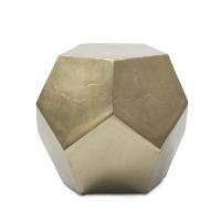 Gem cut gold side table