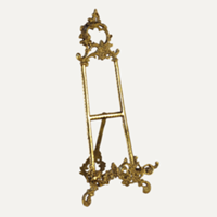 large gold tabletop easel