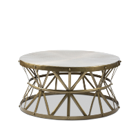 Tolland drum coffee table