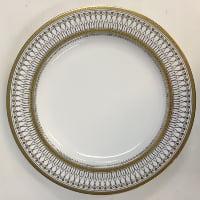 Gabrielle gold dinner plates