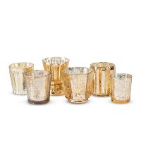 assorted gold mercury votives