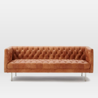 Trevino leather chesterfield