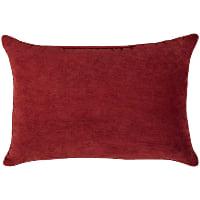 red lumbar pillow