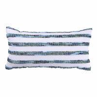 blue stripe lumbar pillow