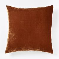 copper velvet pillow