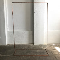 6' copper backdrop stand