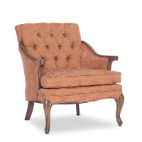 Heather orange armchair