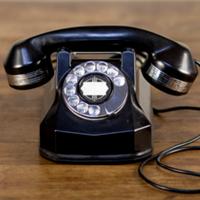 Troy black telephone