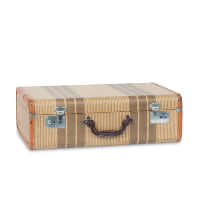 Marney striped suitcase
