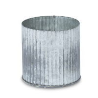 Theron corrugated zinc pot