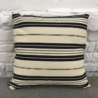 ivory and black stripe pillow