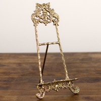 gold ornate tabletop easel