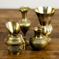 assorted brass bud vases