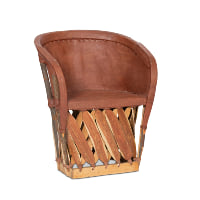 leather Equipale barrel chairs