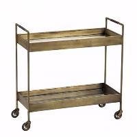Sven brass bar cart