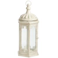 Langdon cream lantern, large
