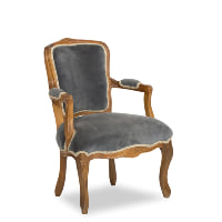 Leonore blue armchairs