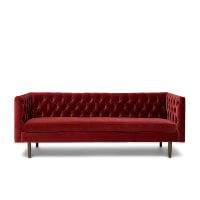 Ingram red sofa
