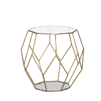 Celia gold side table